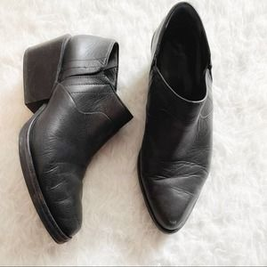 DKNY Lynn Low Cut Wedge Leather Booties Size 6.5